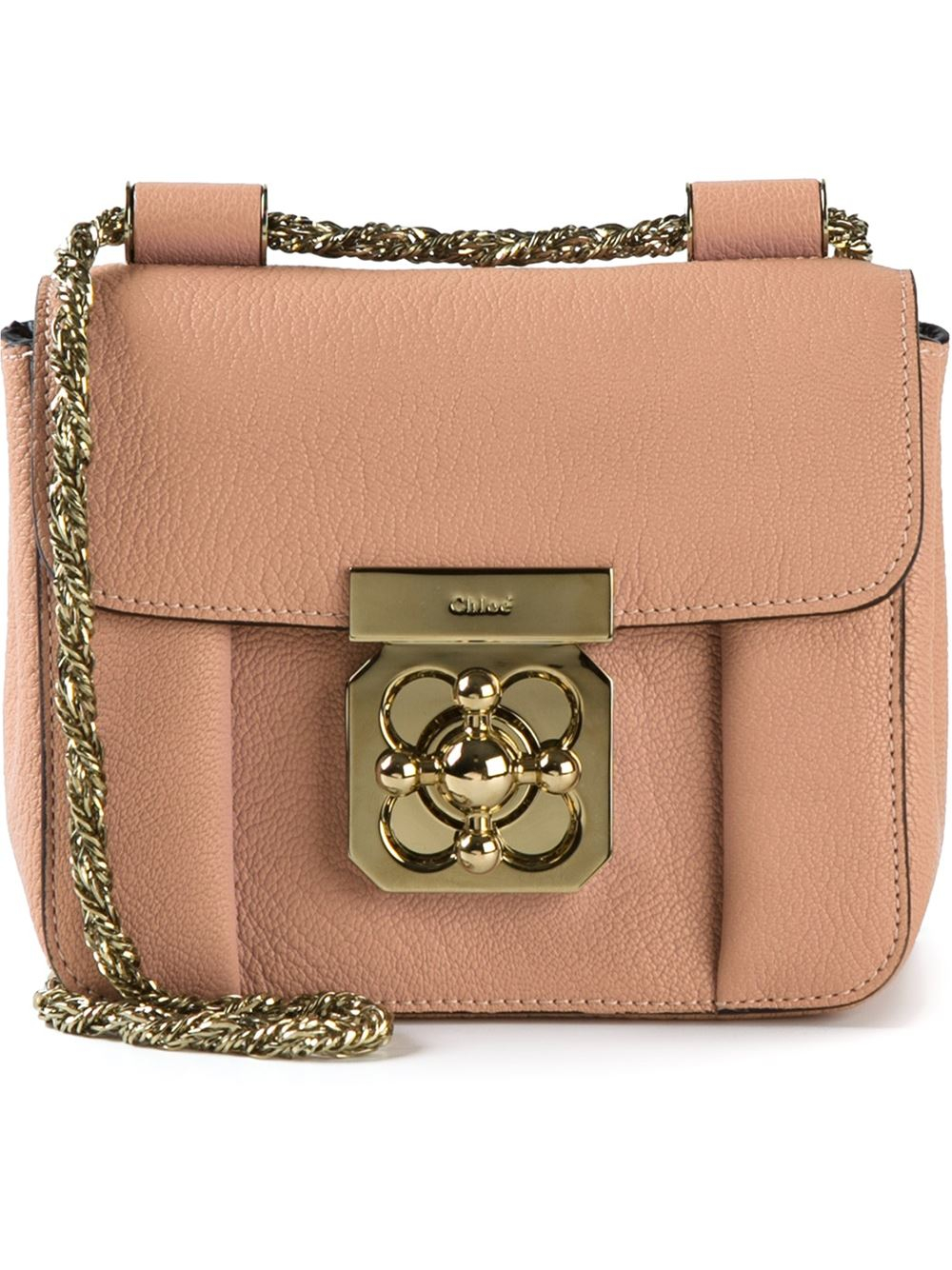 8624e0c8c Chloé Elsie Calf-leather Cross-body Bag in Pink - Lyst