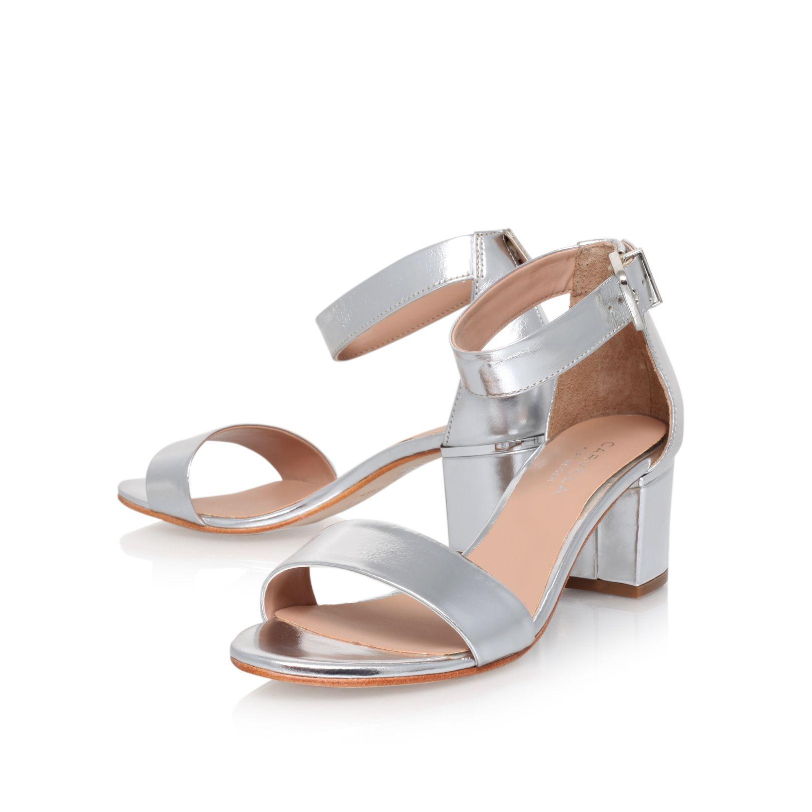 carvela kurt geiger krisp leather block heeled sandals in