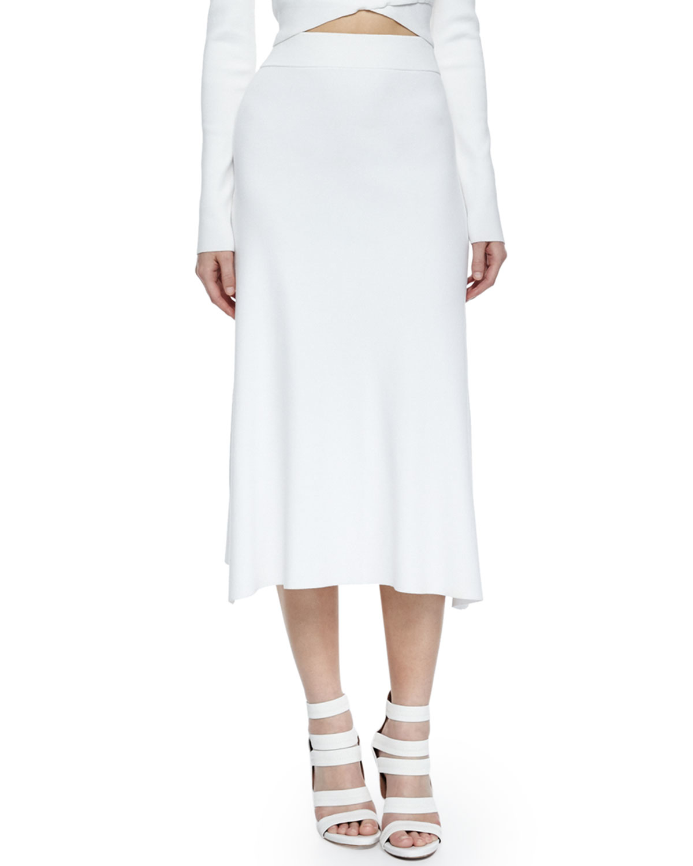 a l c cook stretch a line midi skirt in white lyst