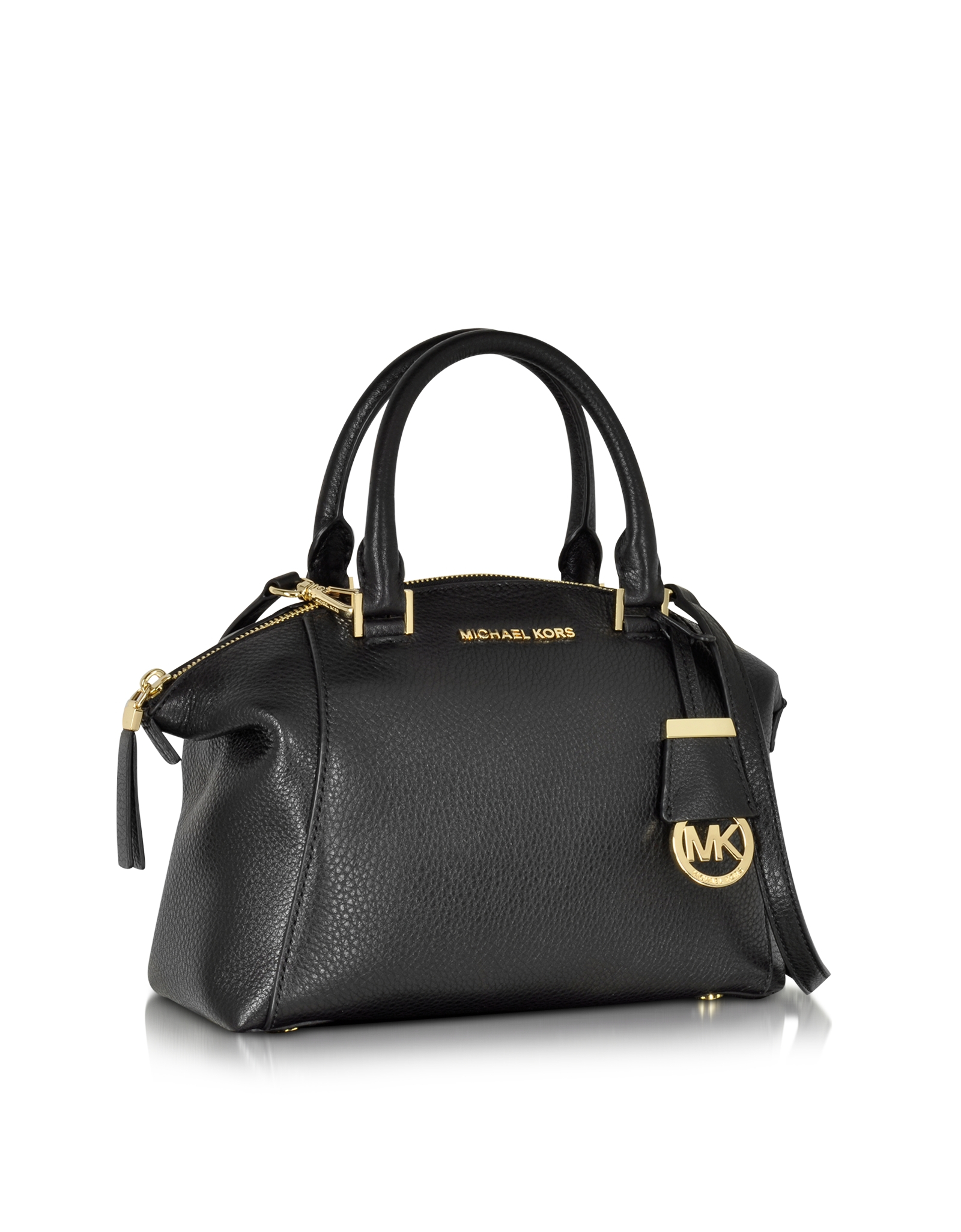 465238f4d7d7 ... store michael kors michael riley small satchel in black lyst ff17f d5033