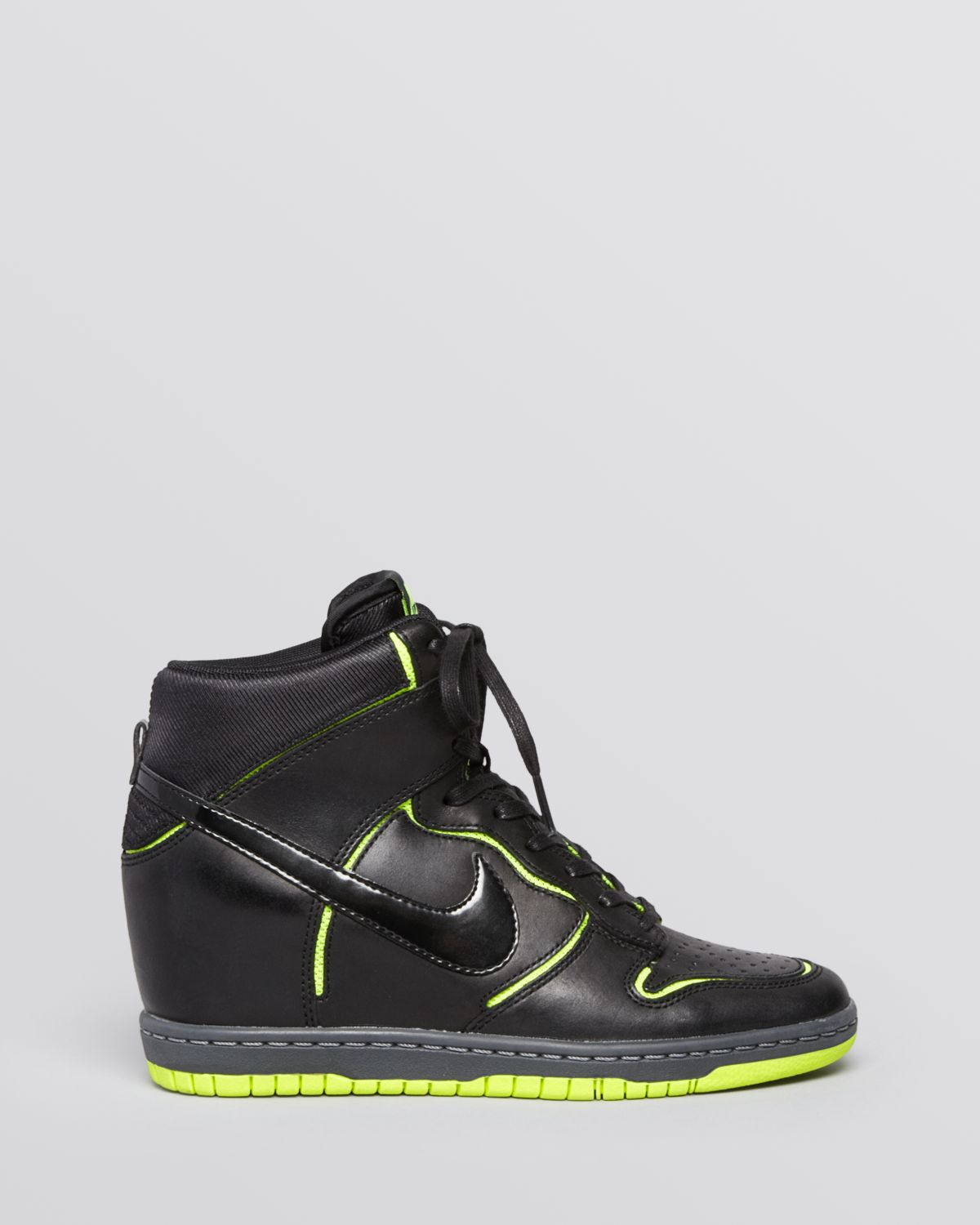 3538c83dacaf7c Lyst - Nike Lace Up High Top Wedge Sneakers - Women S Dunk Sky Hi ...