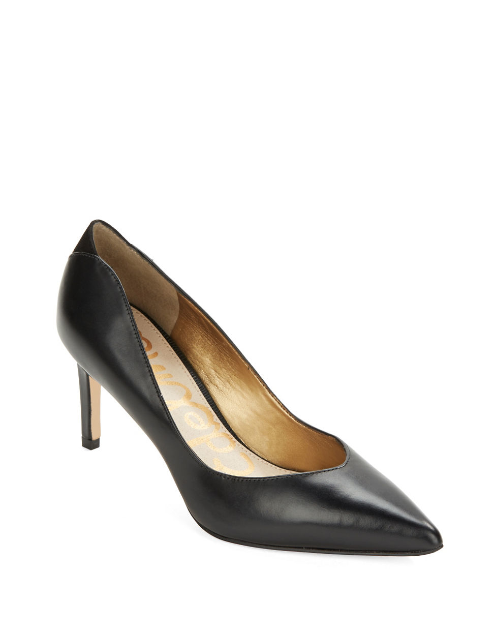 407a462039 Sam Edelman Orella Leather Pumps in Black - Lyst
