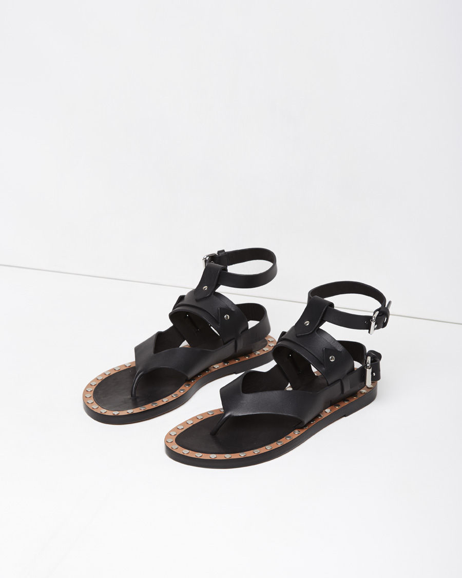 5335102a8e70 Lyst isabel marant justy leather sandals in black jpg 900x1125 Isabel  marant sandals