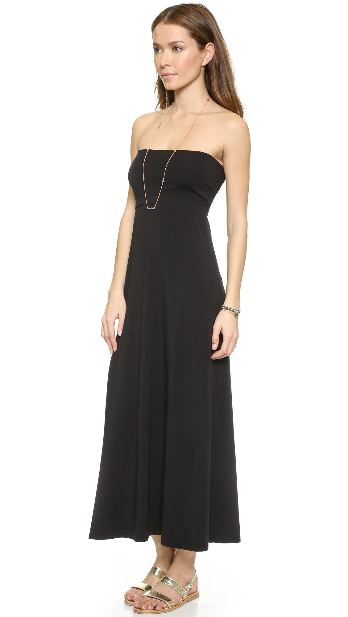 Splendid Maxi Tube Skirt / Dress - Military in Black | Lyst
