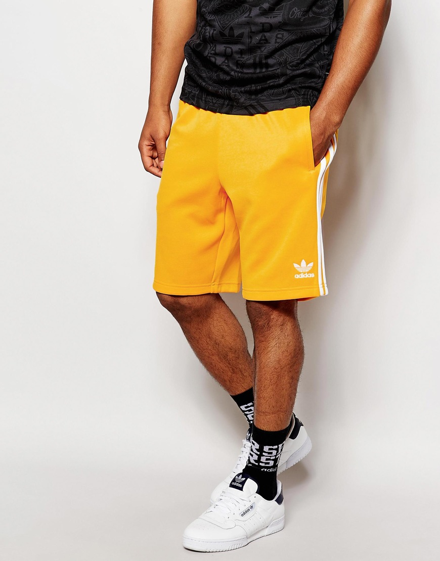 cf2ccd4732 adidas Originals Shorts in Yellow for Men - Lyst
