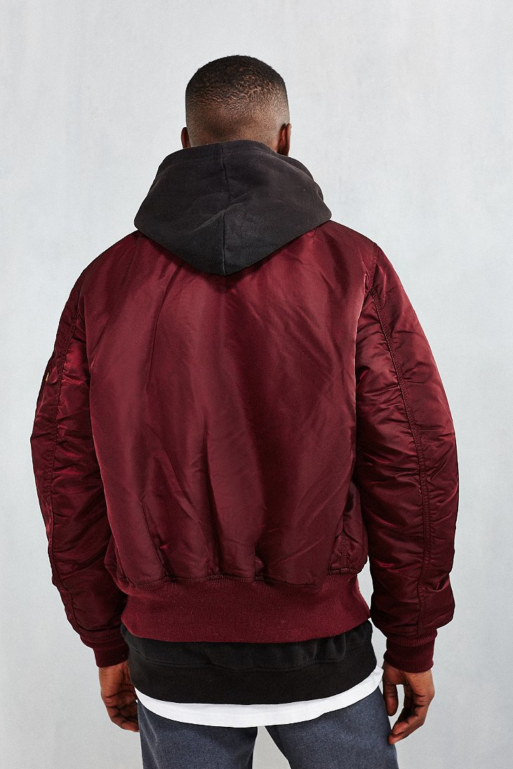 lyst alpha industries classic fit ma 1 bomber jacket in. Black Bedroom Furniture Sets. Home Design Ideas