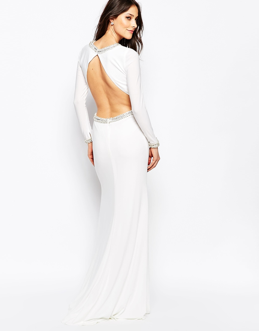Lyst - Forever Unique Tiara Long Sleeve Maxi Dress With ...