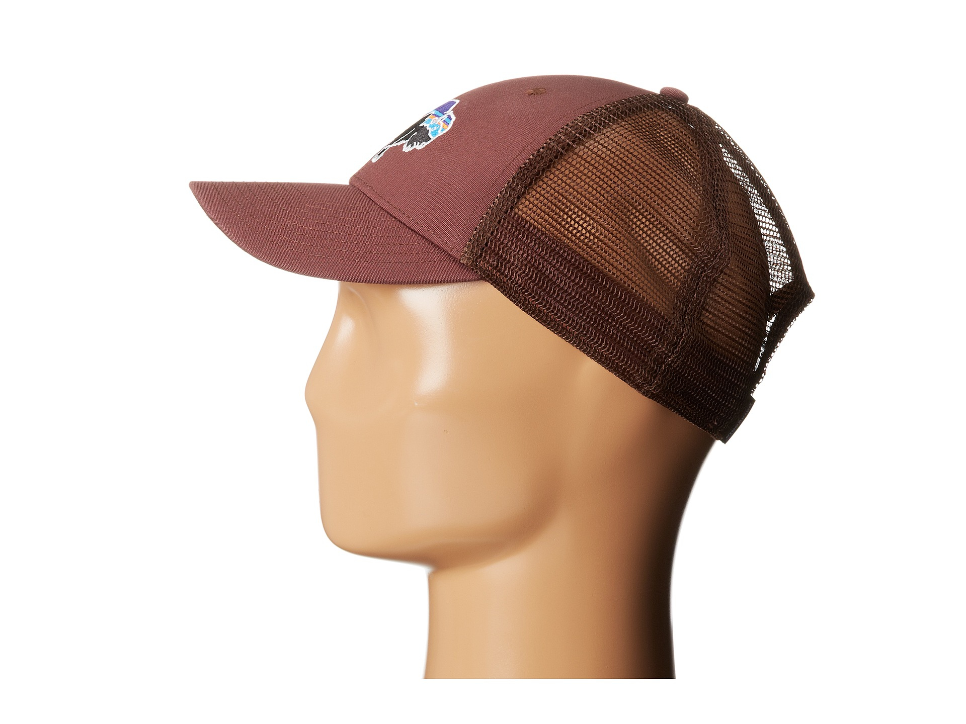 Lyst - Patagonia Fitz Roy Bison Lopro Trucker Hat in Brown 04592a1c60bc