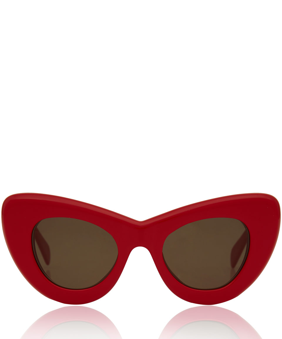 Celine Red Sunglasses  céline large red papillon cat eye sunglasses in red lyst
