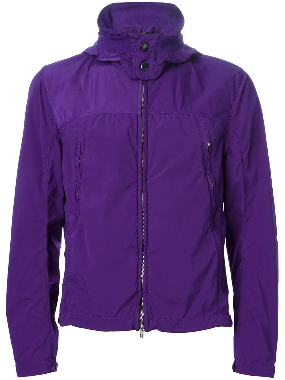 c p company goggle hood jacket in purple for men lyst