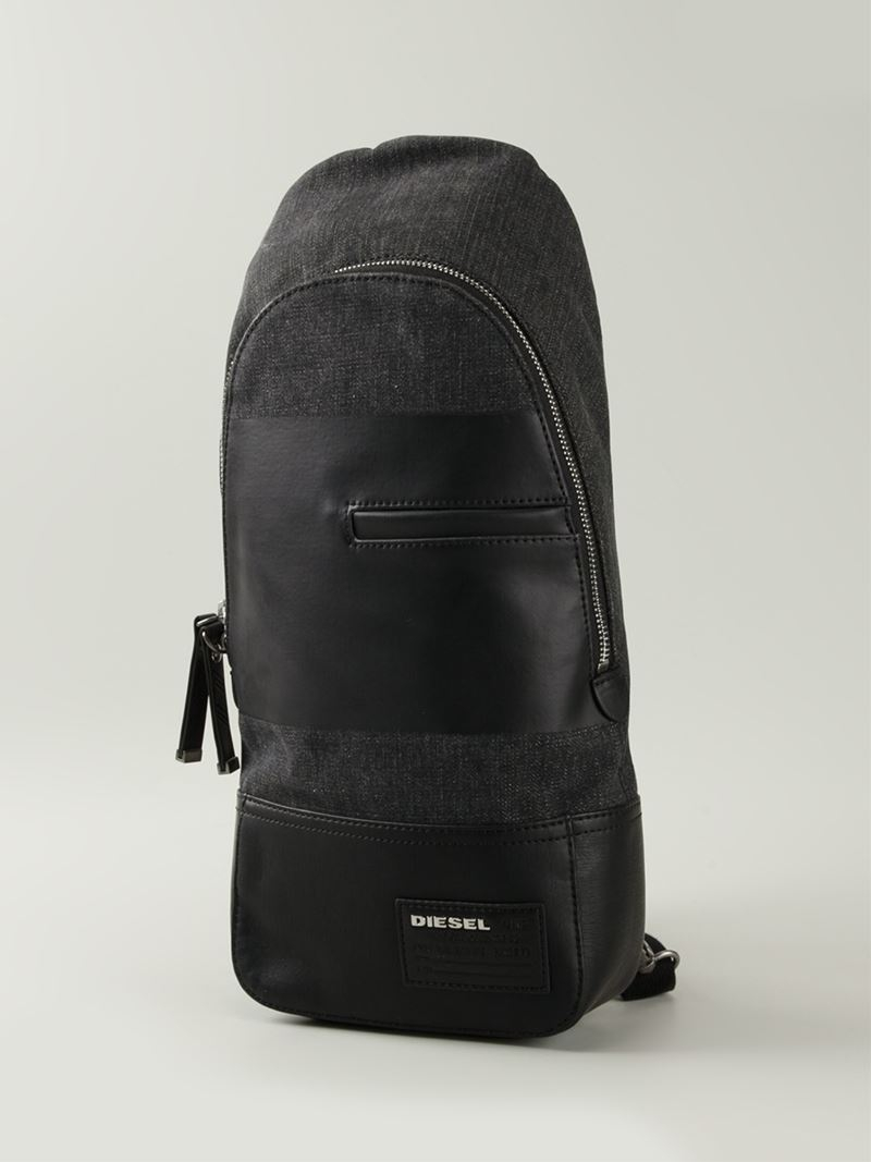 bb1a15c03a Lyst - DIESEL  the Brave One  Backpack in Black for Men