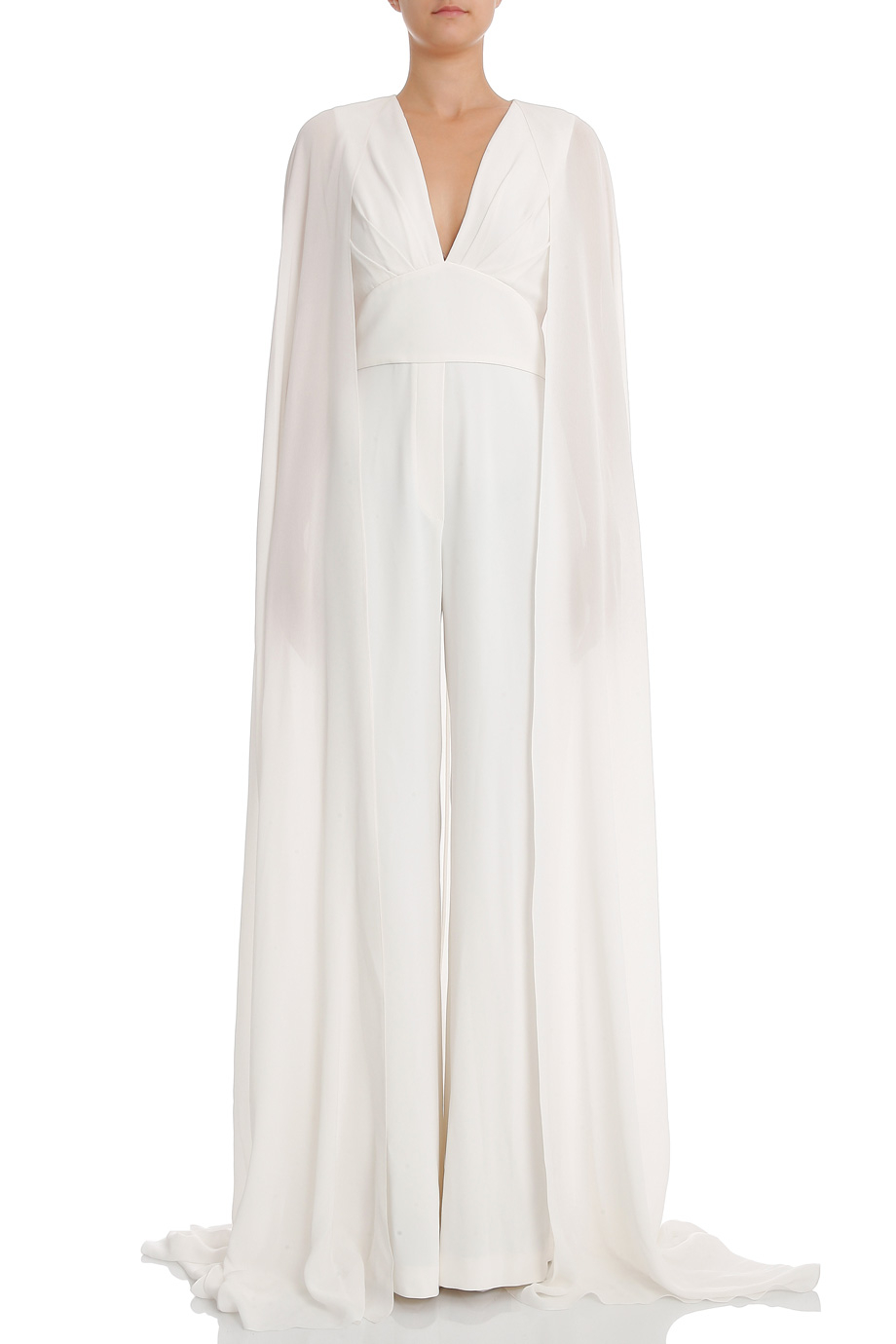 Lyst Elie Saab Bklss Jumpsuit With Train In White