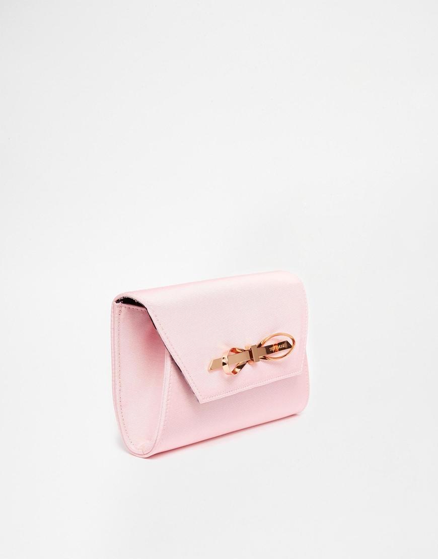 f56cf0a9a4 Lyst Ted Baker Hard Case Glitter Clutch Bag In Pink ...