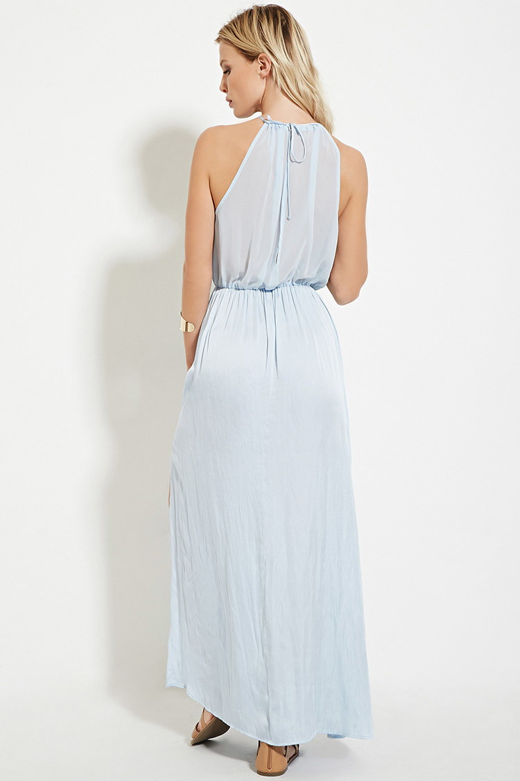 5aa6ac24 Lyst Forever 21 Satin High Maxi Dress You Ve Been Added To