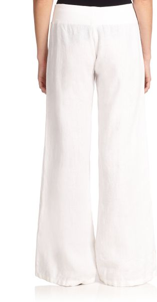 Lilly Pulitzer Linen Beach Pants In White Resort White