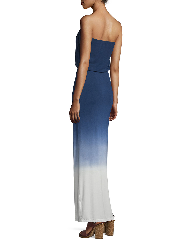 Young fabulous & broke Amari Strapless Maxi Dress in Blue ...