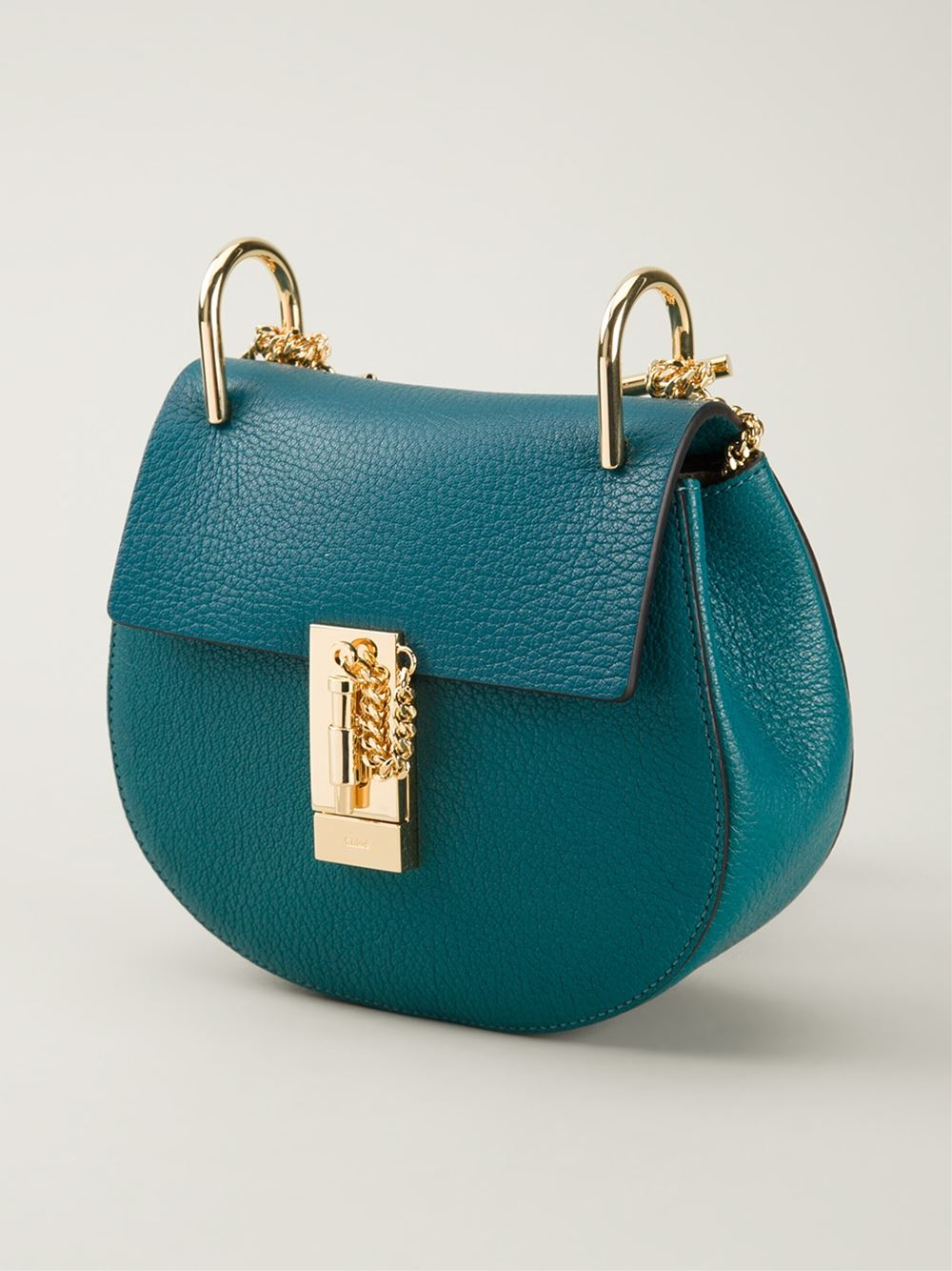 Chlo¨¦ Drew Leather Cross-Body Bag in Green | Lyst