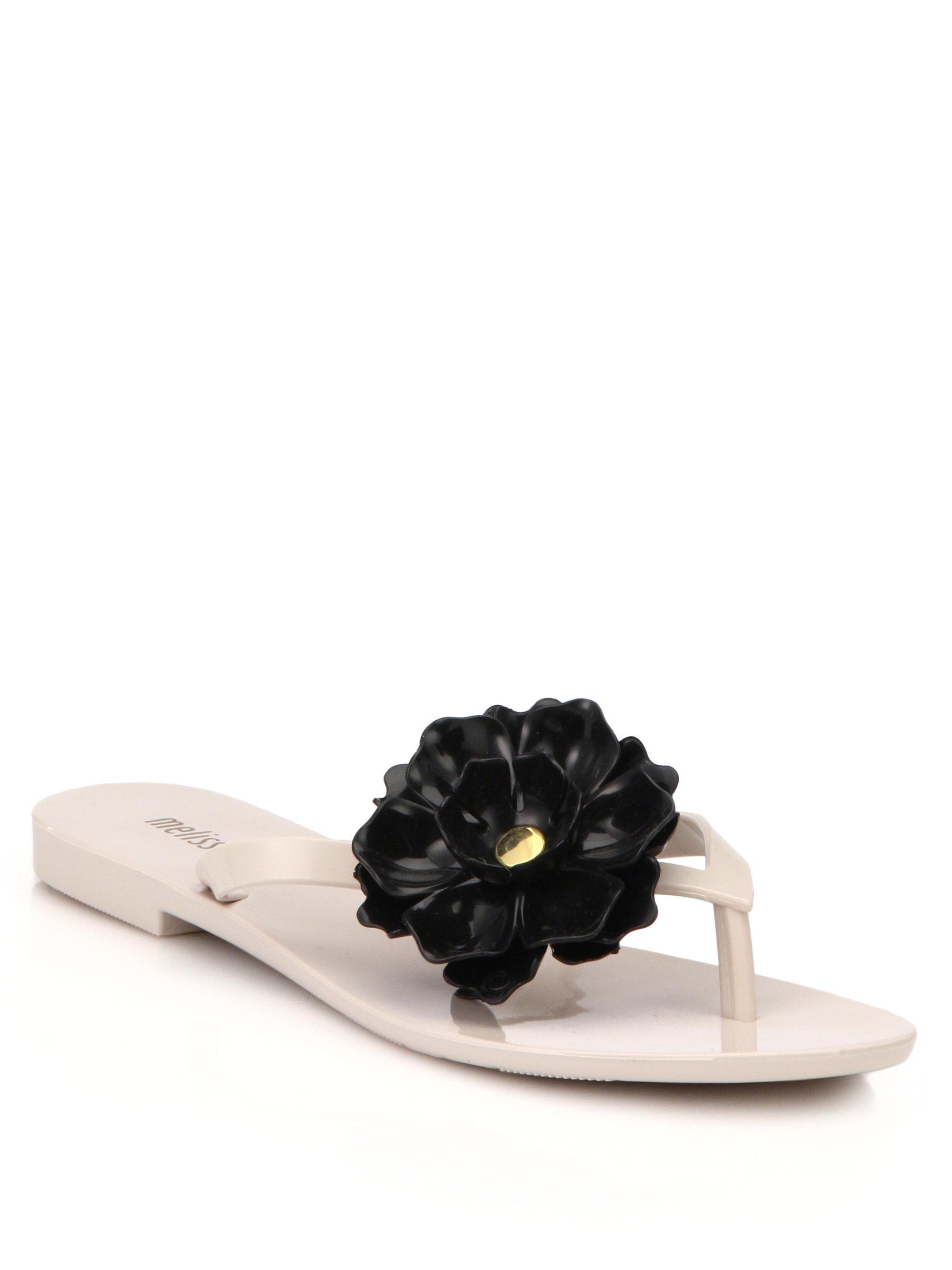 Melissa Harmonic Flower Flip Flop Sandals In Natural Lyst