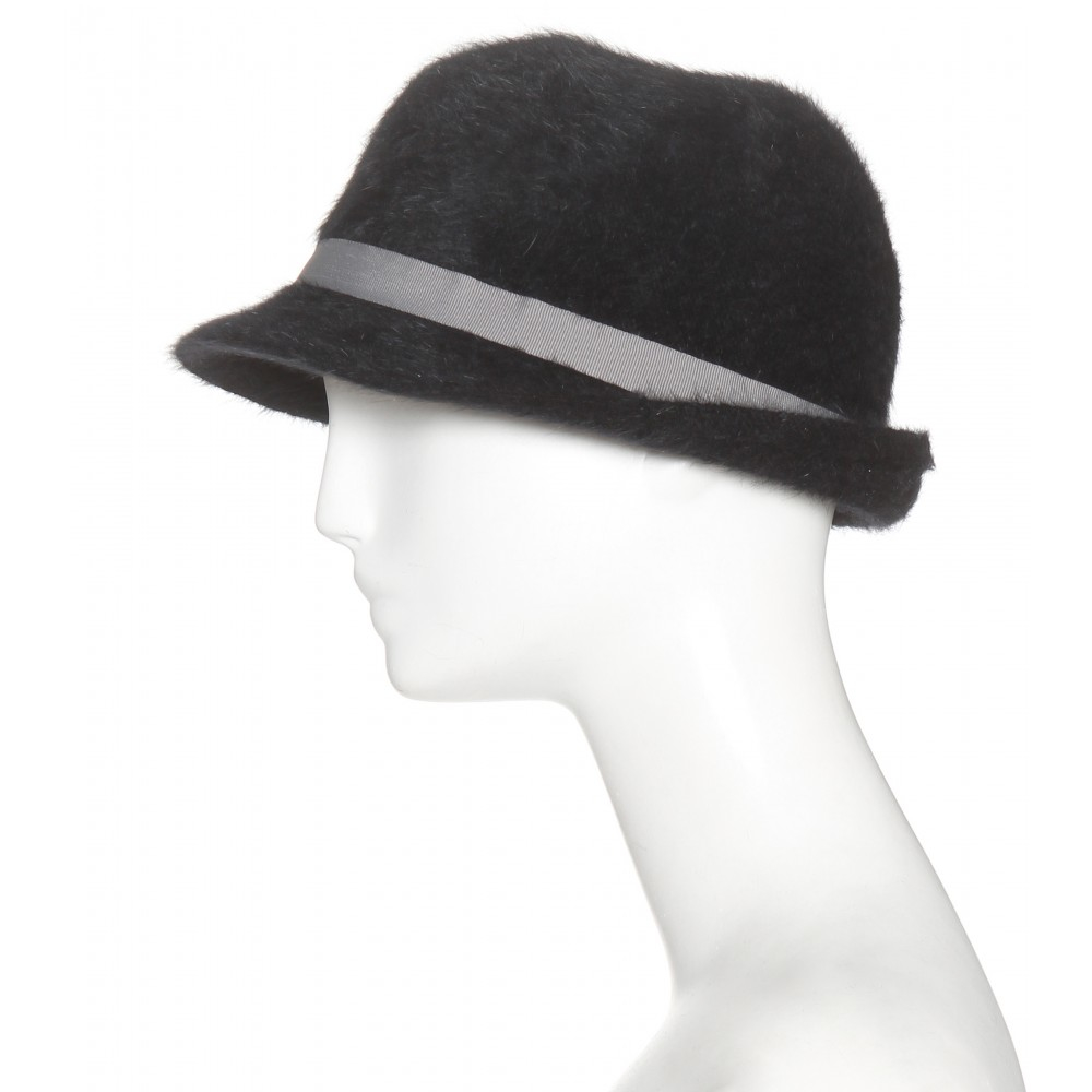547f61dac84 Hat Attack Angora-blend Fedora in Black - Lyst