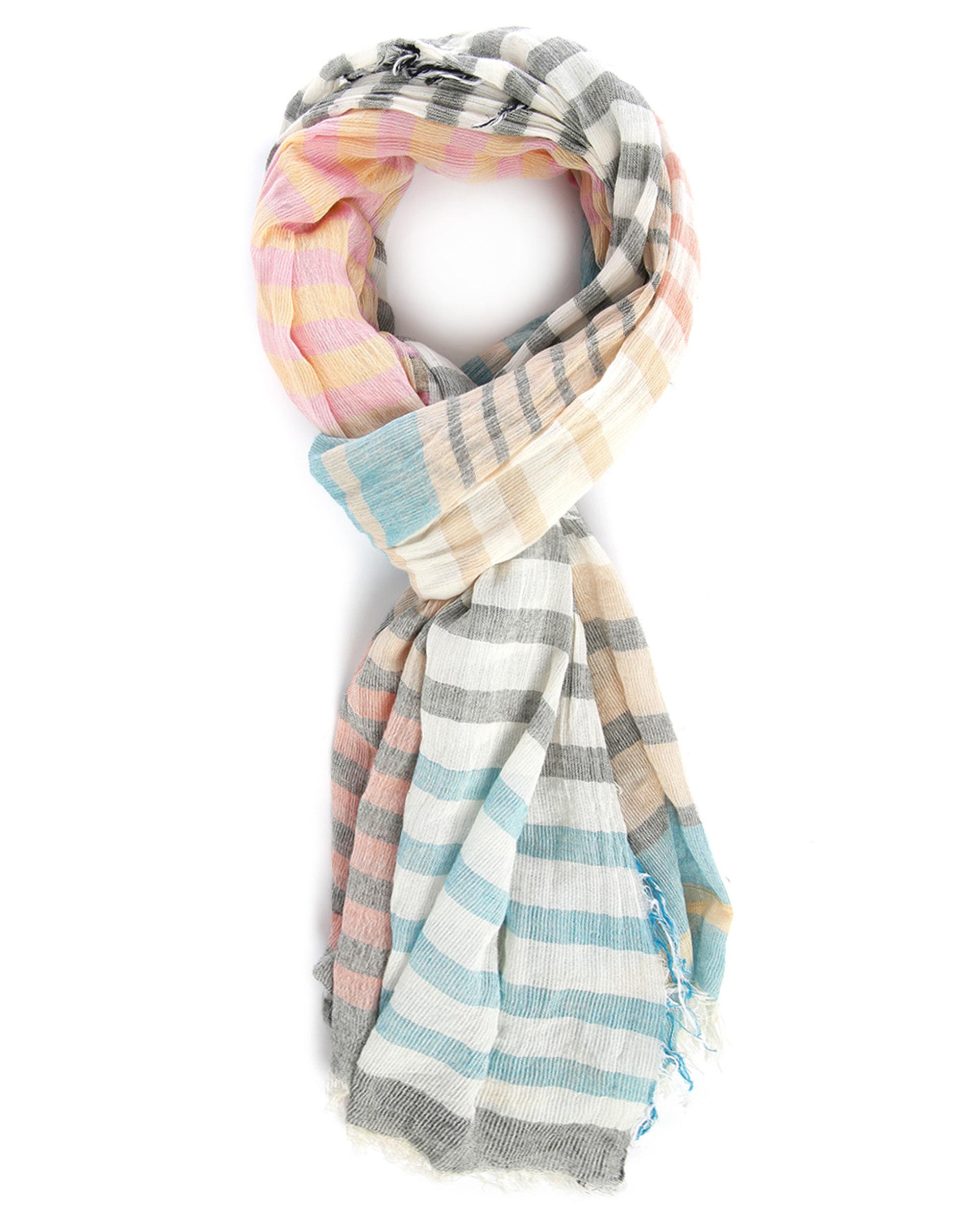 ikks multi coloured striped scarf in multicolor for lyst