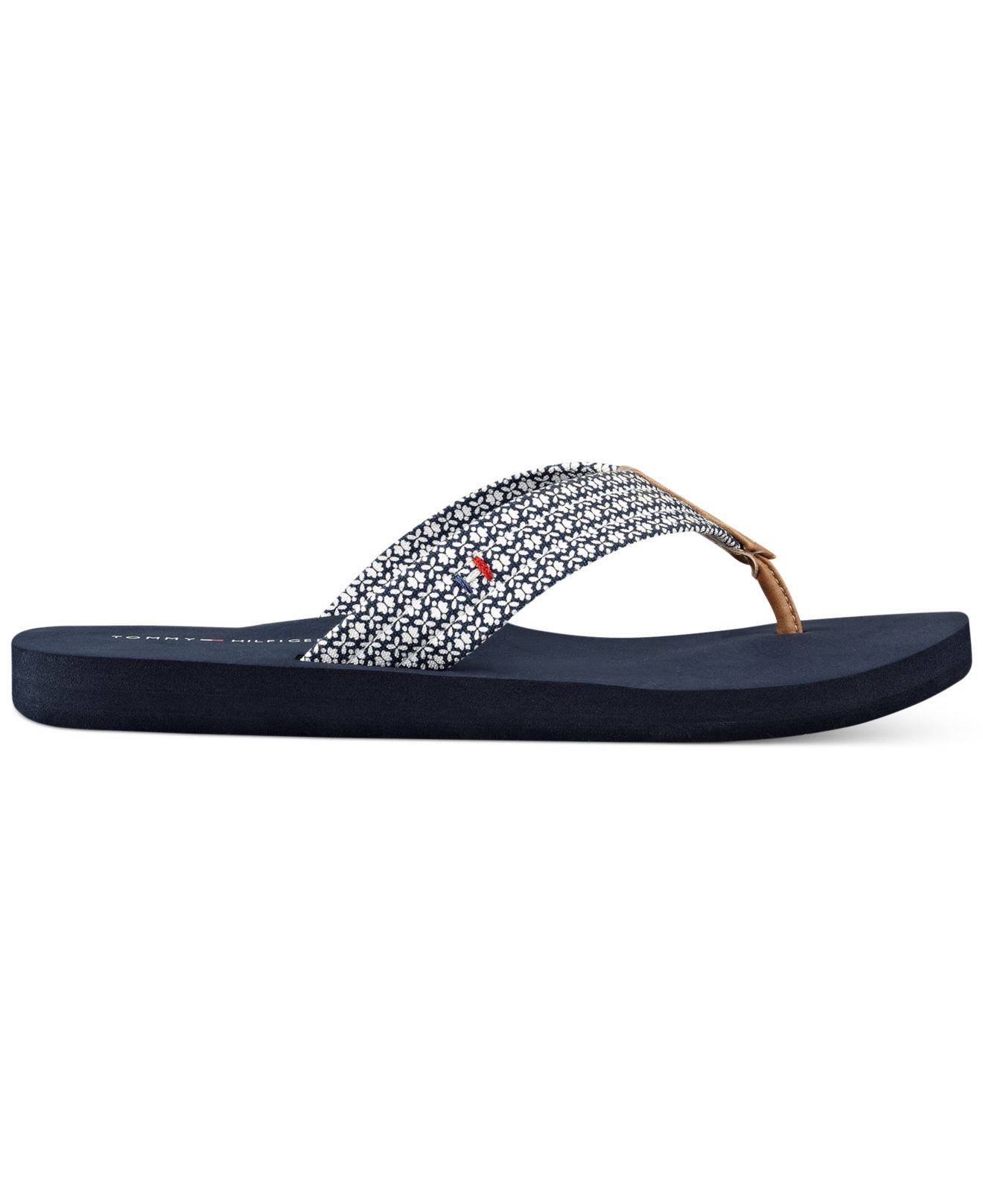 tommy hilfiger women 39 s caber flip flops in blue lyst. Black Bedroom Furniture Sets. Home Design Ideas