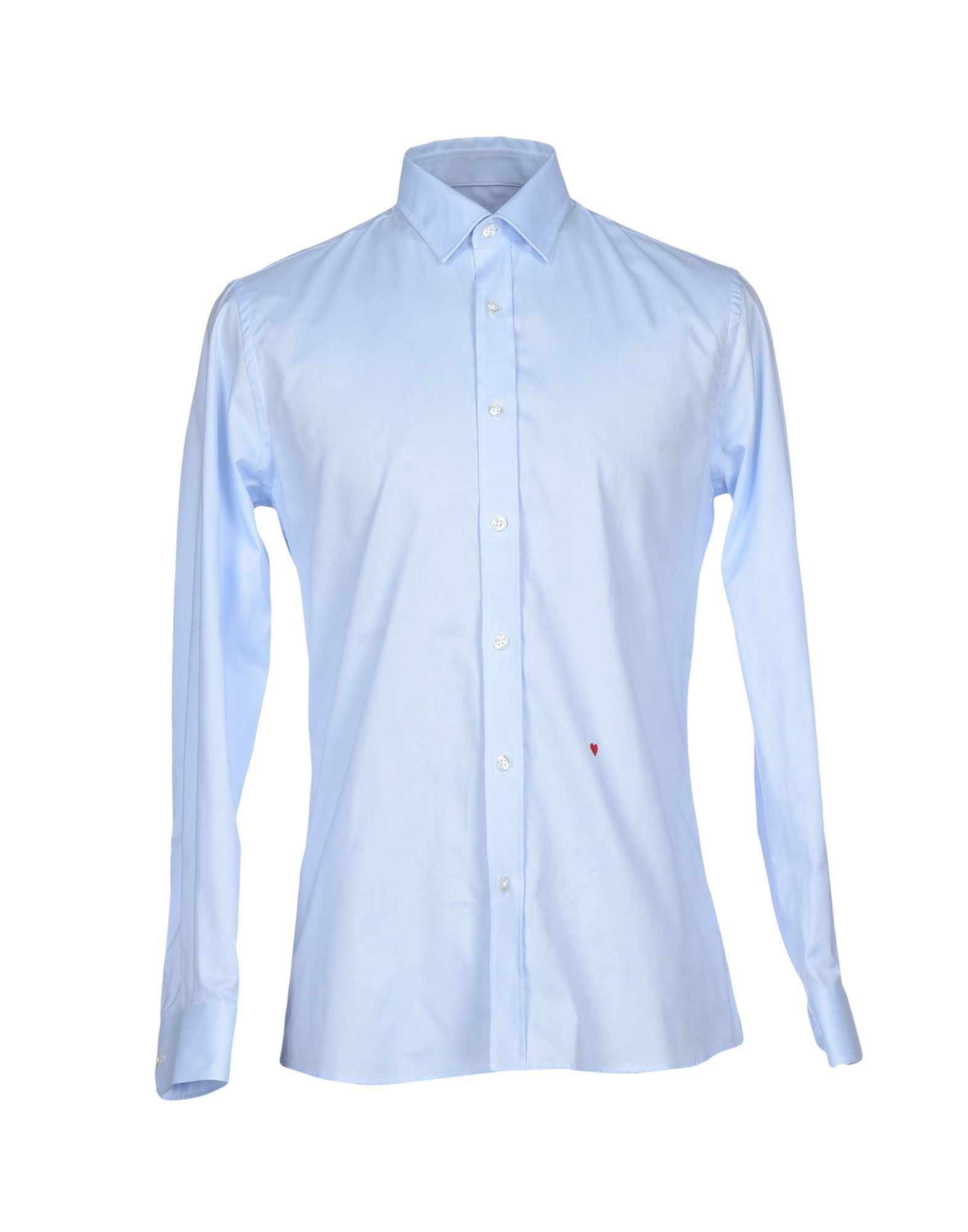 lyst moschino shirt in blue for men