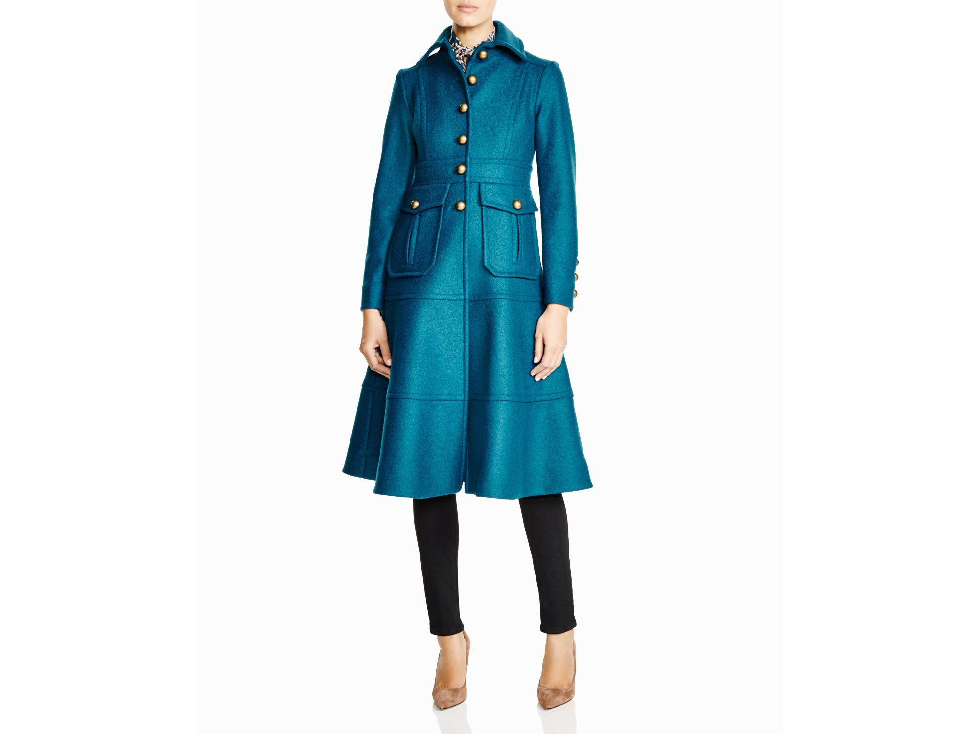 Nanette lepore Femme Fatale Wool Coat in Blue | Lyst