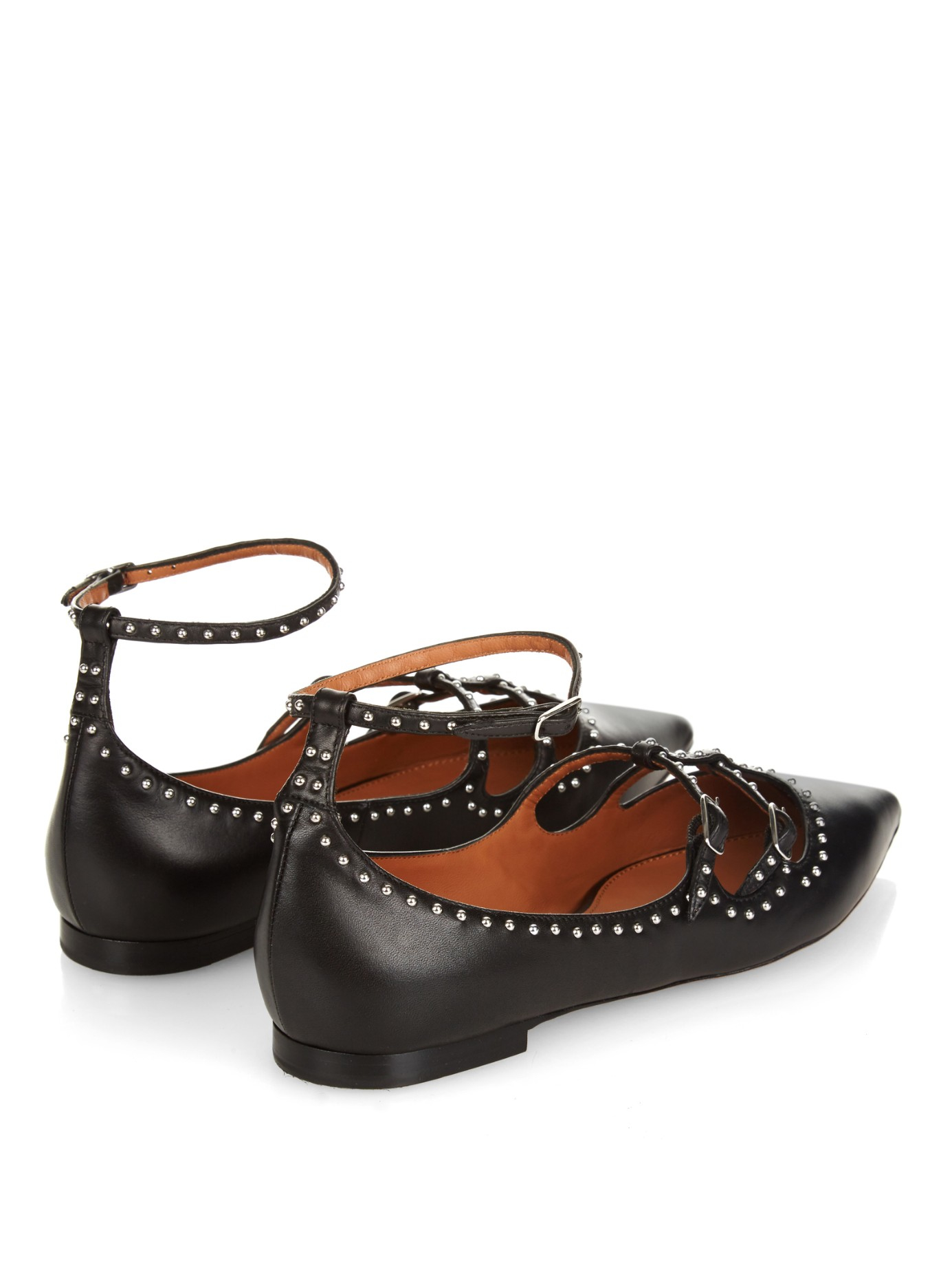 Givenchy Patent Leather Studded Flats clearance footaction eastbay comfortable cheap price k1m4r