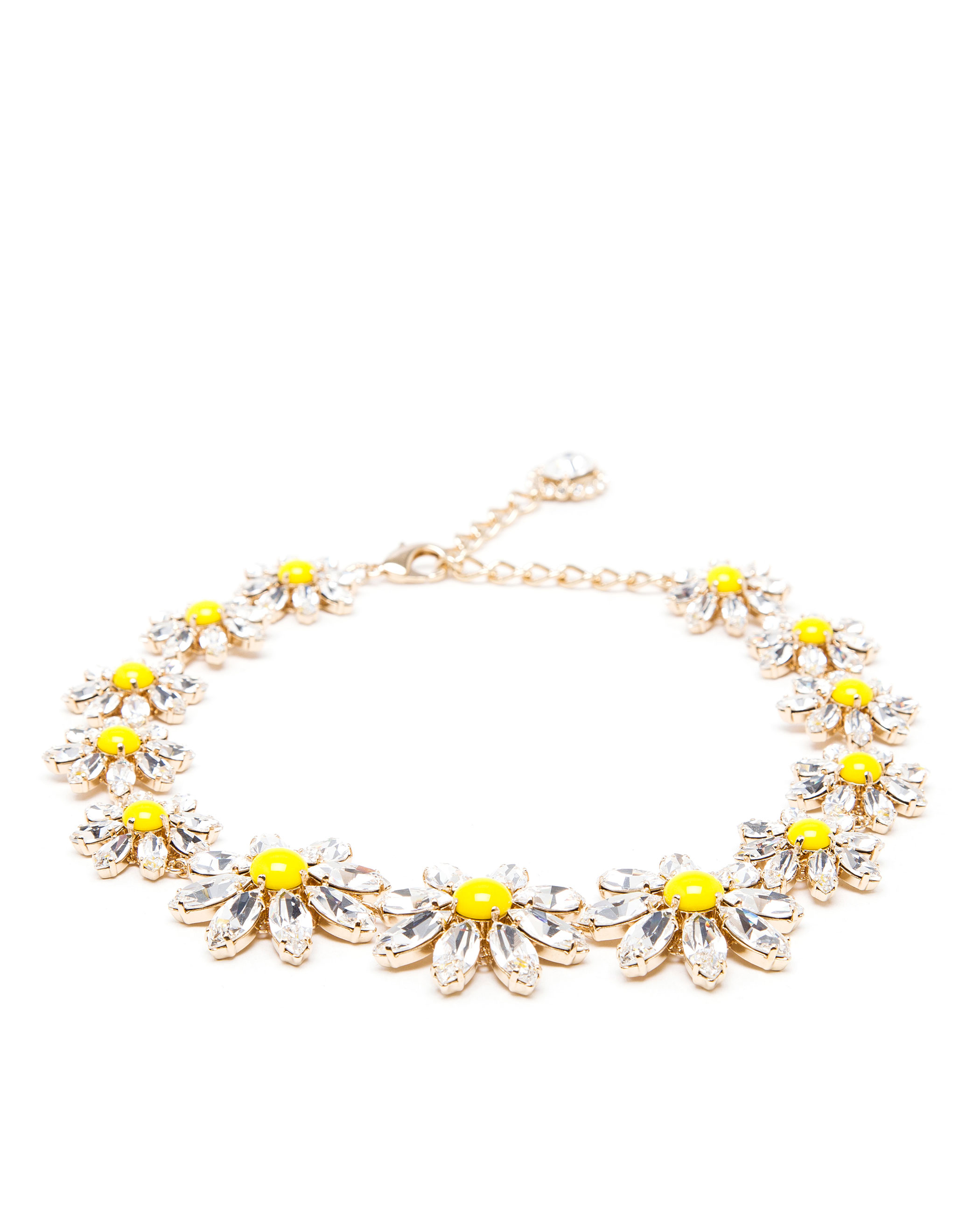 p silver sterling daisy products moon necklace