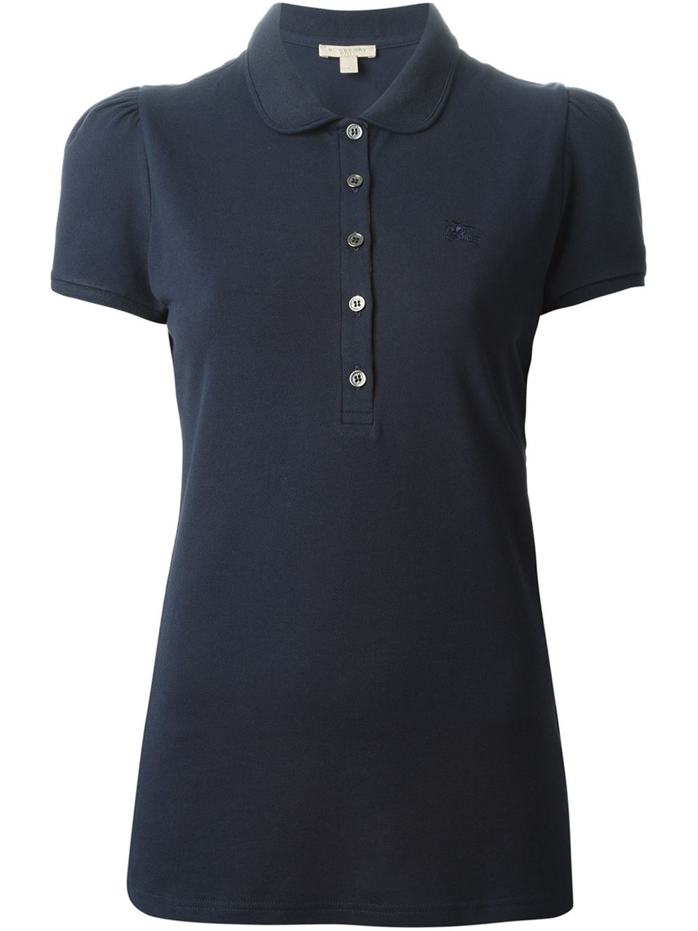 burberry brit classic polo shirt in blue lyst