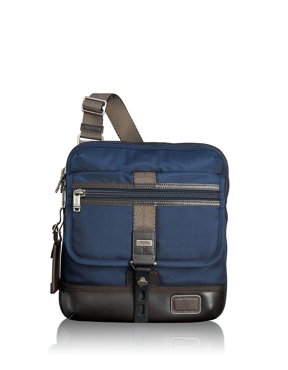 Tumi Alpha Bravo Annapolis Crossbody Bag in Blue for Men ...