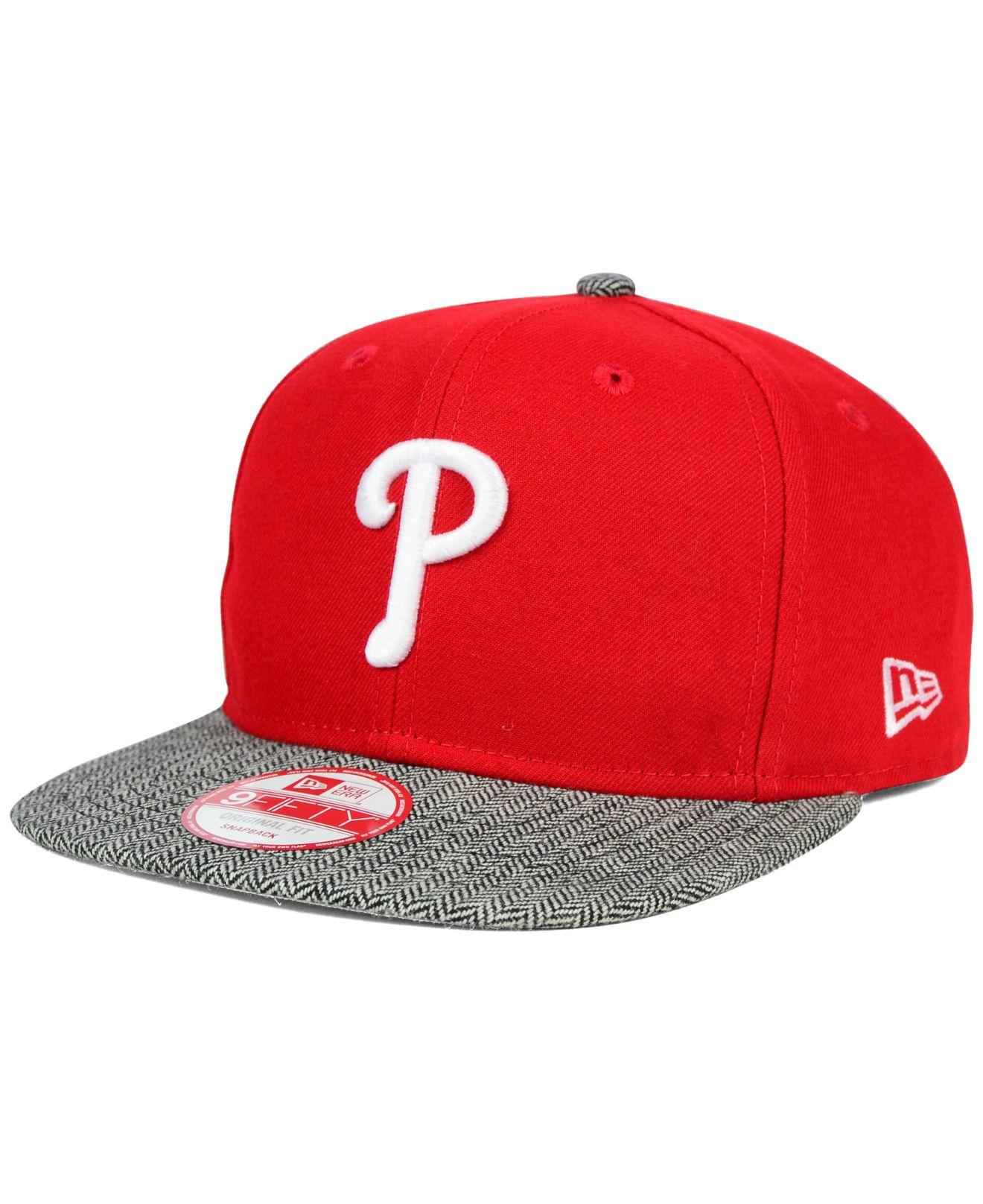 af854d822e4 Lyst - Ktz Philadelphia Phillies Premium 9fifty Snapback Cap in Red ...