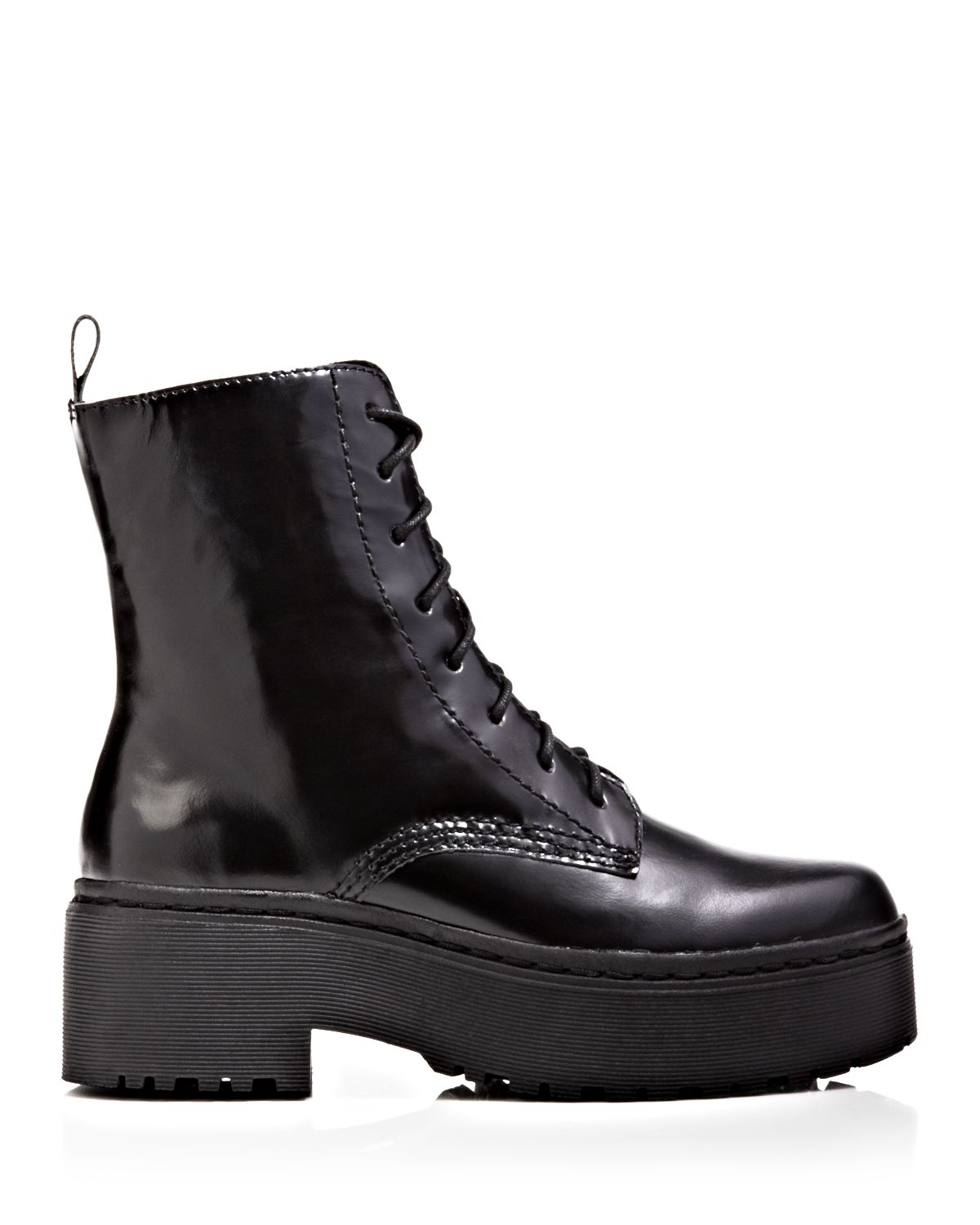 28c87507286 Lyst - Jeffrey Campbell Lace Up Platform Combat Boots - Finnick in Black
