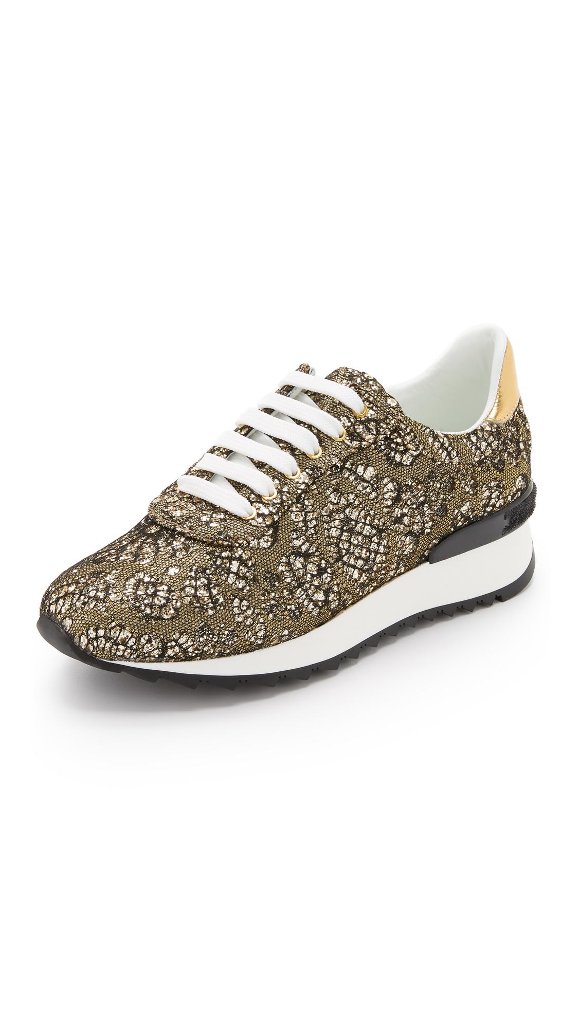 Glittery sneakers Casadei Spw29PMYP7