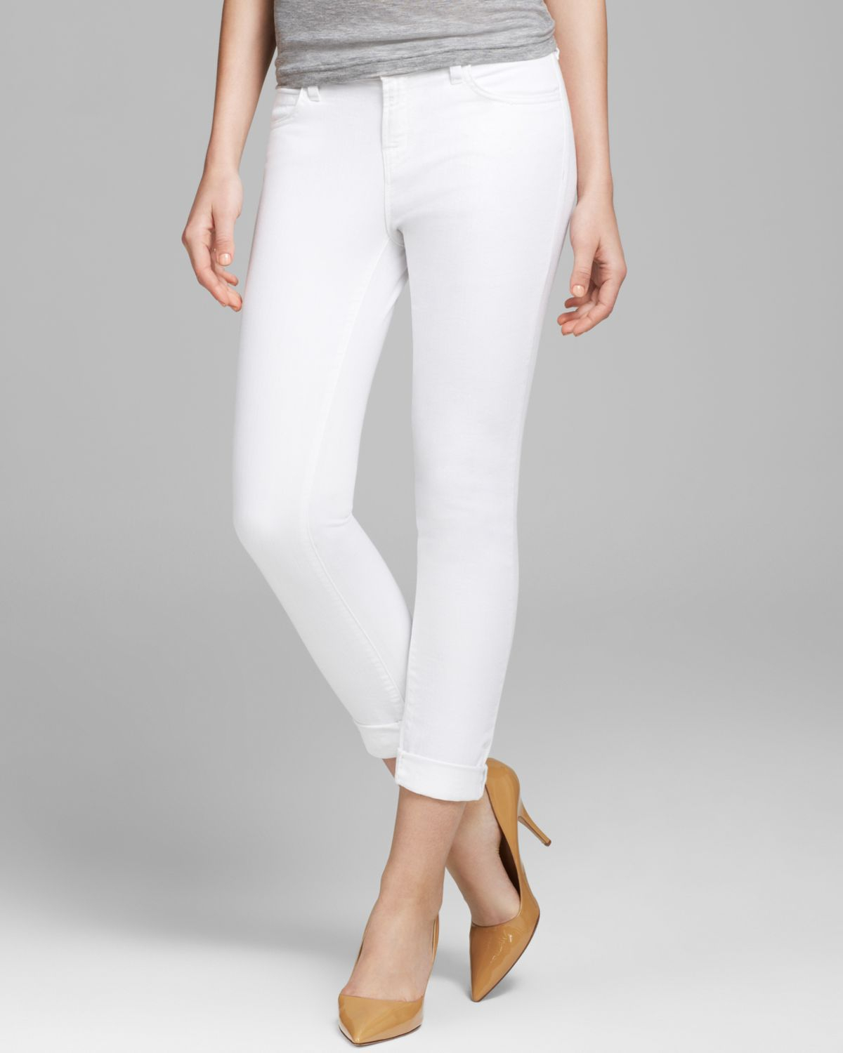 J brand Jeans The Jake Slim Boyfit in Pure White in White | Lyst