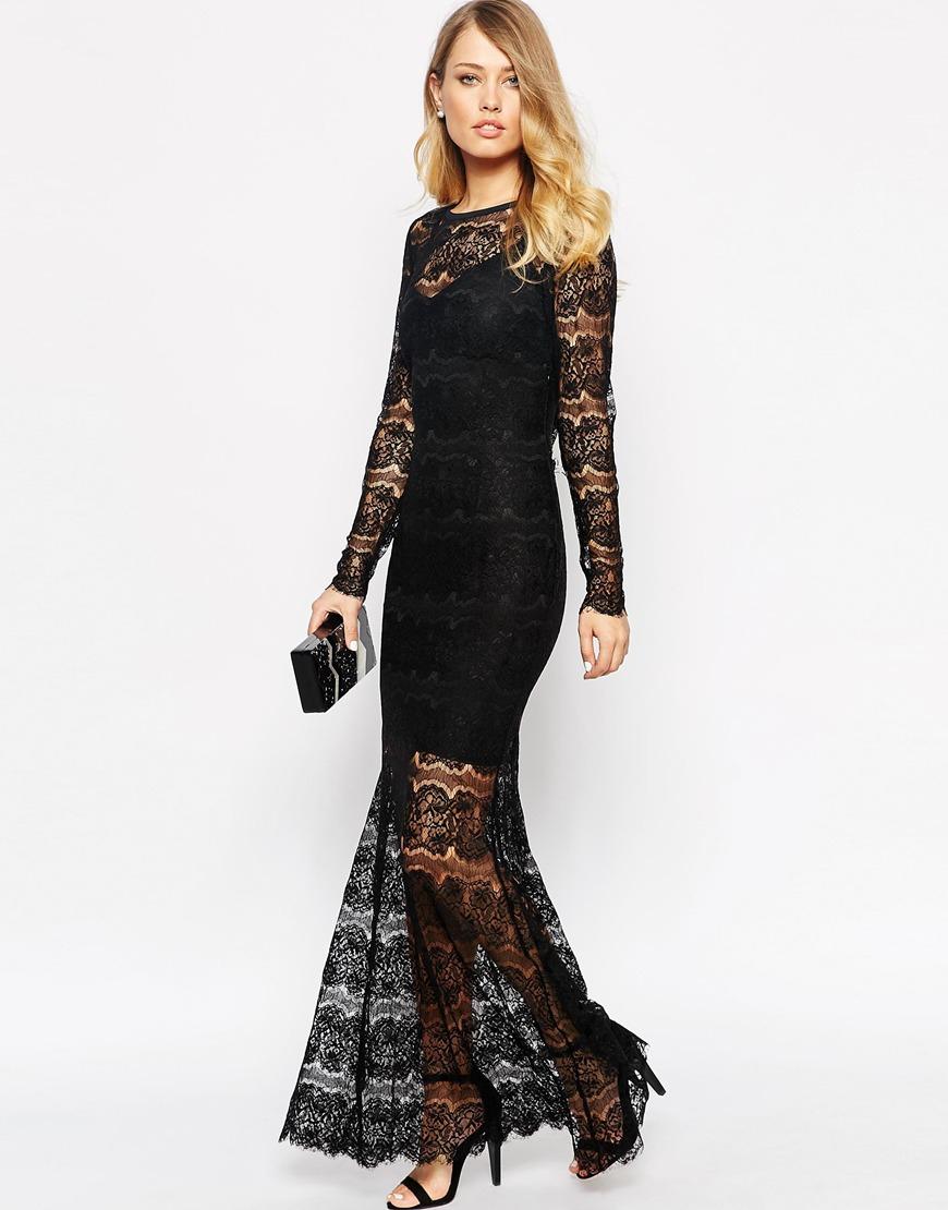 Body frock Alexis Maxi Dress In Lace in Black | Lyst