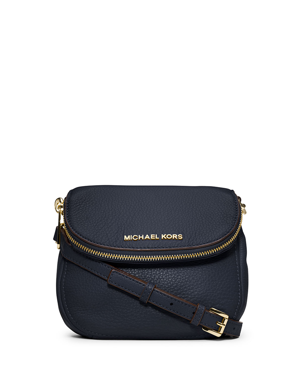 b7824e330398 ... purchase lyst michael michael kors bedford flap crossbody bag in blue  2880e 32eaa