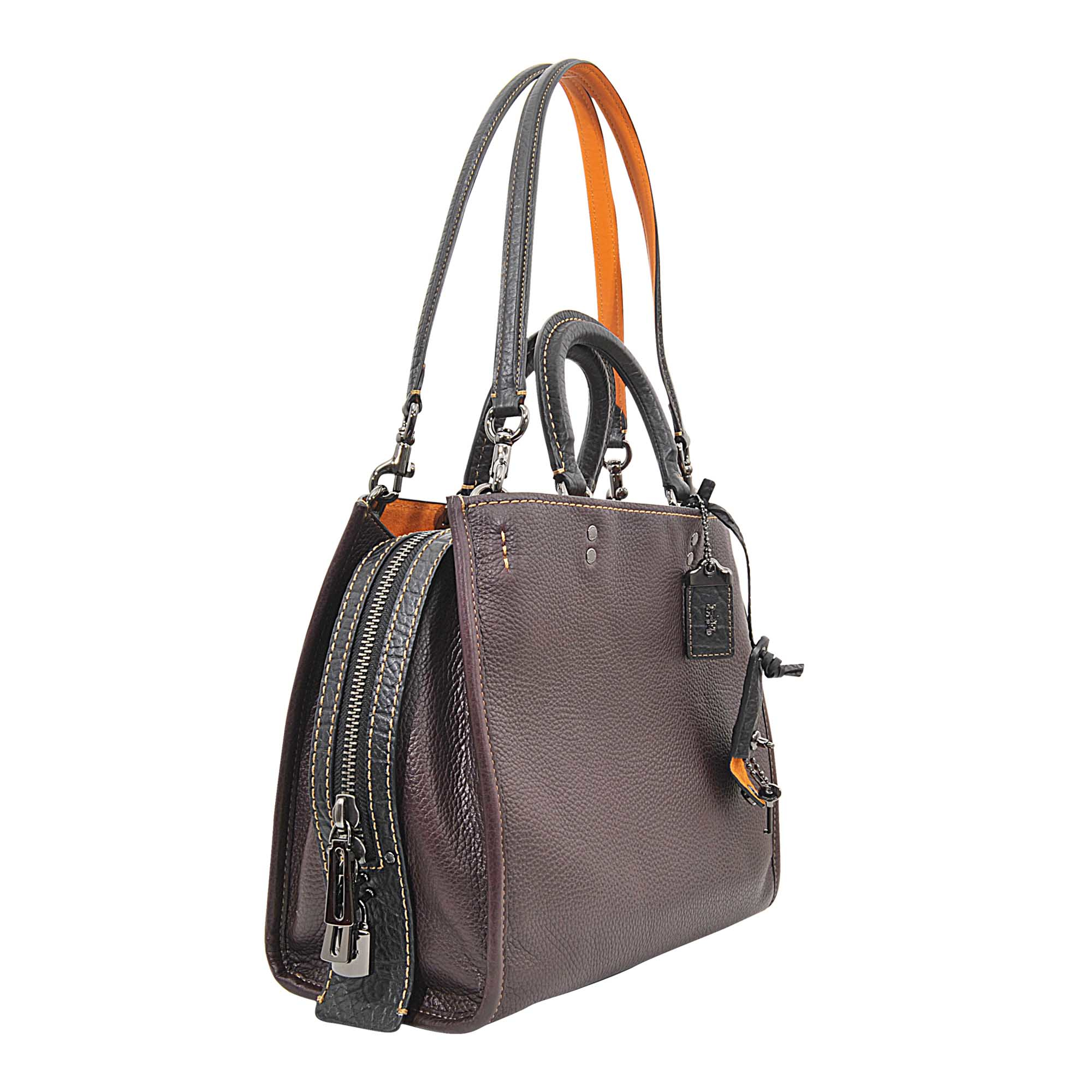 ae164f62f ... store coach pebble leather rogue bag in purple lyst 2246b d3b7c