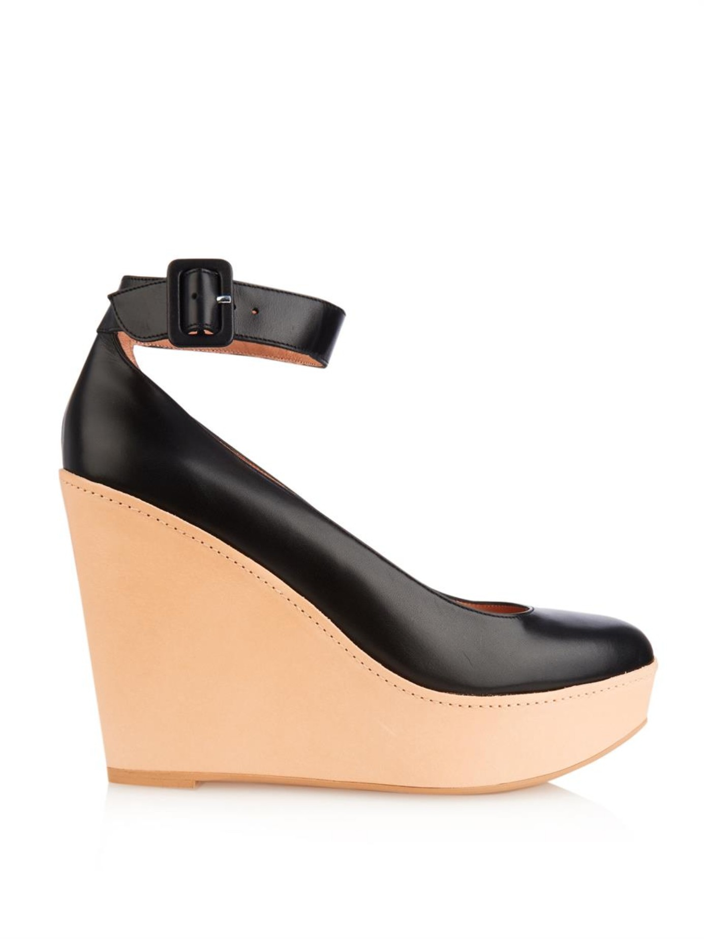 Robert Clergerie Clergerie Paris Leather Platform Wedge Pumps clearance really cheap price original visa payment cheap price the best store to get DCLJ9DWfU