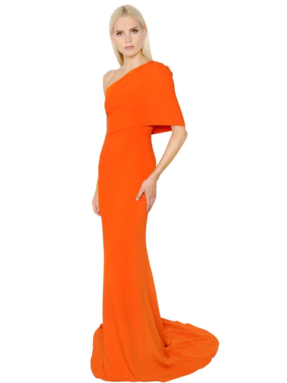Lyst - Stella Mccartney One Shoulder Cady Dress in Orange
