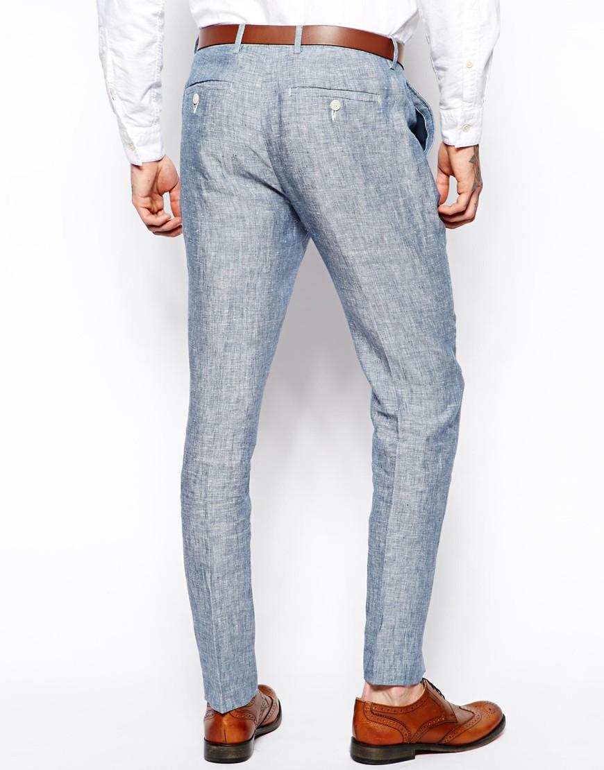 Slim Fit Linen Pants - Collections Pants Photo Parkerforsenate.Org