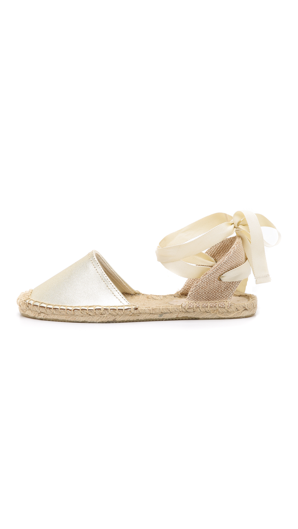 60551b76fcf1d Lyst - Soludos Leather Espadrille Sandals in Natural