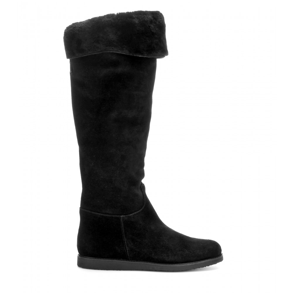 ferragamo my ease suede boots in black lyst