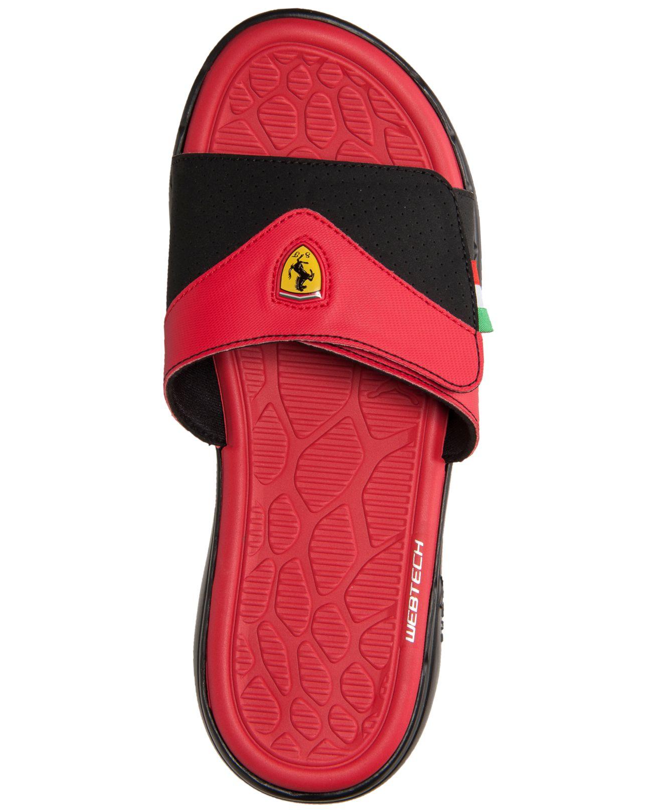 6fddb58d936 Lyst - PUMA Men S Ferrari Slide Sandals From Finish Line in Red for Men