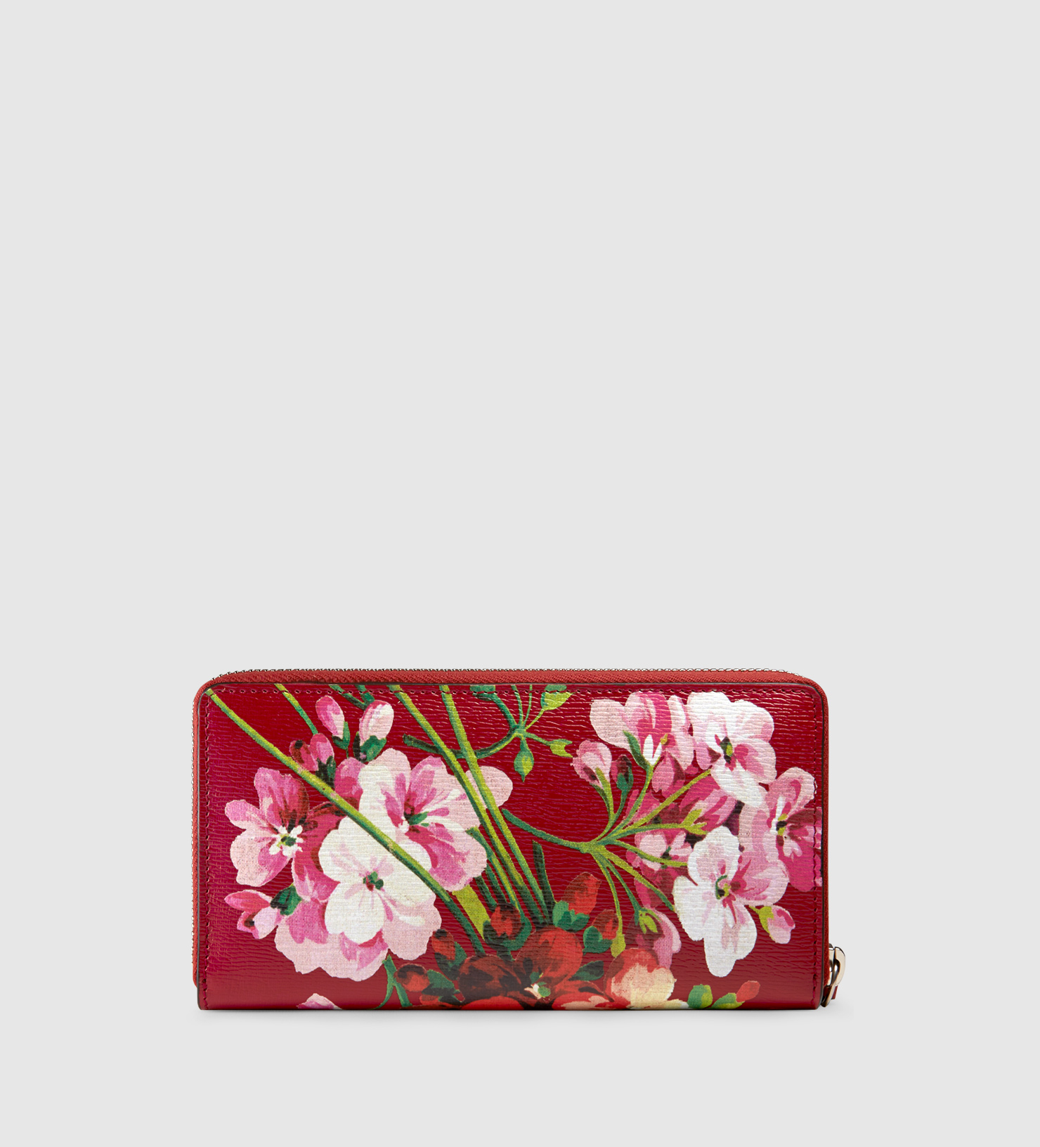 07ac340652b506 Gucci Blooms Print Zip Around Wallet - Lyst