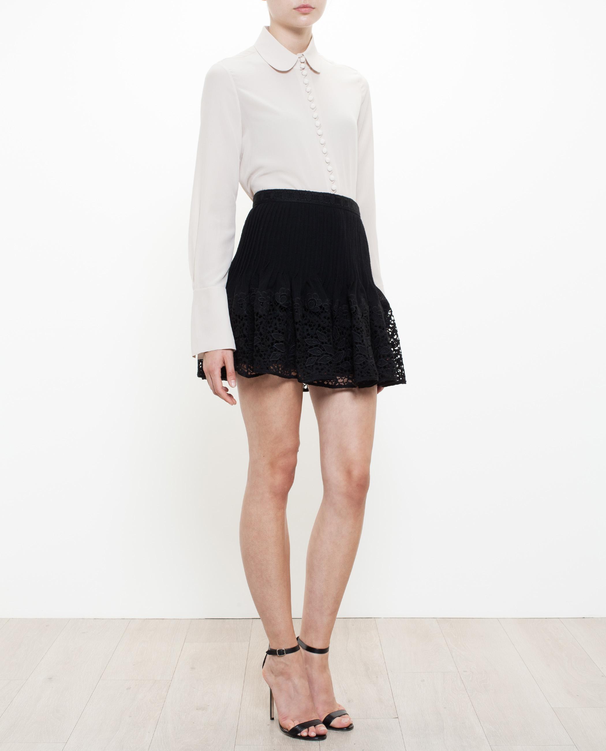 Chloé Flared Mini Skirt in Black | Lyst