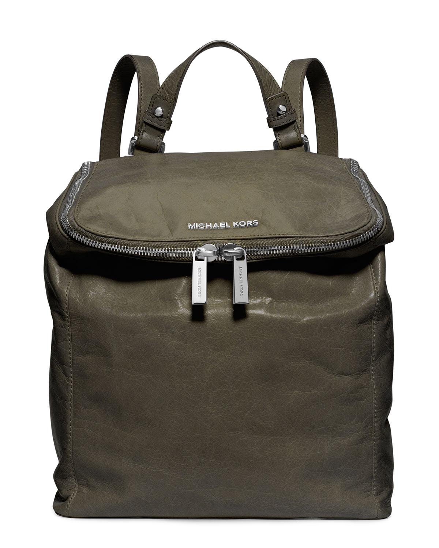 Lyst - Michael Kors Michael Medium Lisbeth Backpack in Green