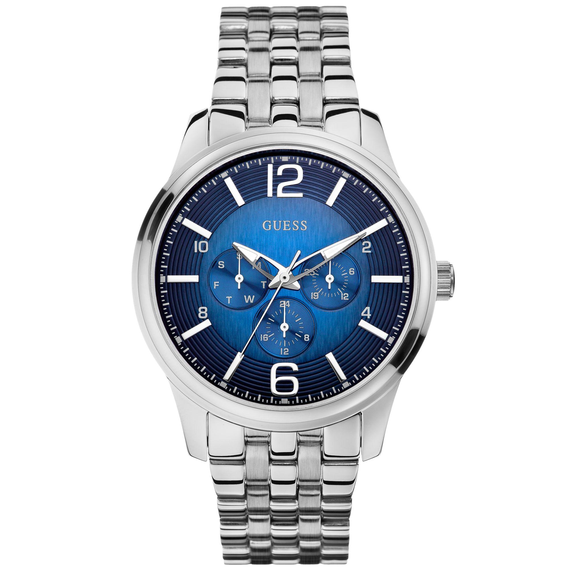 Guess Watch, Men'S Stainless Steel Bracelet 45Mm U0252G2 ...