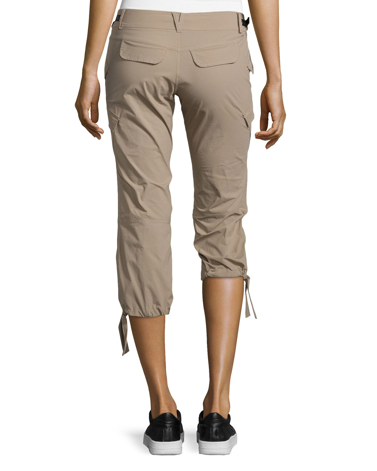 Lyst - Anatomie Low-Rise Cargo Capri Pants in Natural