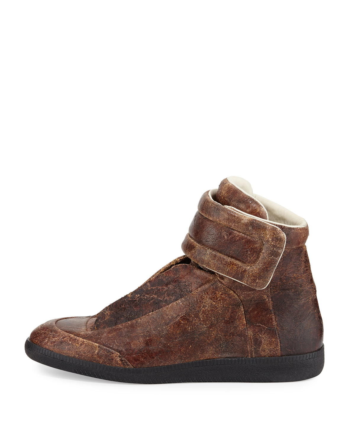 Maison margiela future ankle in brown for men lyst for Maison de margiela